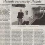 Melanie vereeuwigt Hennie - 4 okt. 02 TC Tubantia