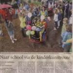 Naar school via kinderkunstroute - 17 mei 2008 in de Stentor